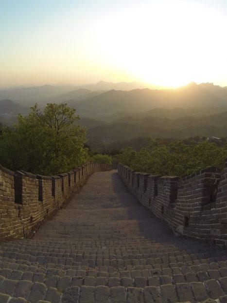 Abends ganz allein auf der Chinesischen Mauer