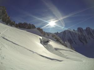 Gletscherspalte am Col D'Argentière