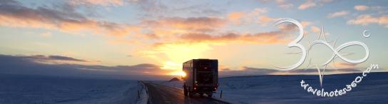 Fusel auf Island bei Sonnenuntergang