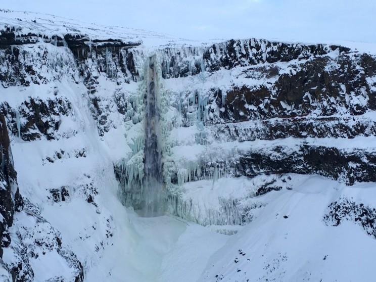 Der Hengifoss im Winter