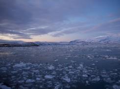 Eismassen in der Gletscherlagune