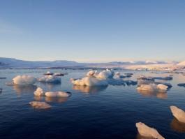 Eisbrocken in der Gletscherlagune