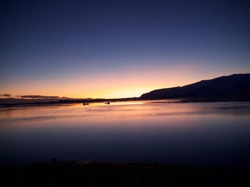 Jökulsárlón bei Sonnenuntergang