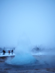Die Eruption des Strokkur