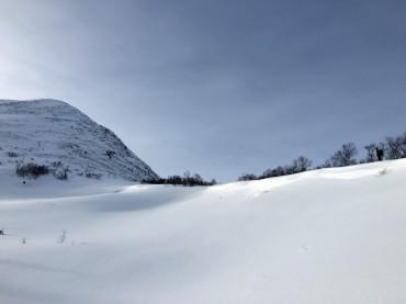 Weg zum Gipfel Storhaugen
