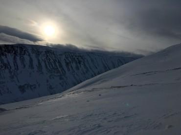 Umkehren vor dem Gipfel: zu viel Wind