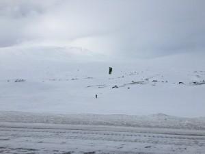 Snowkiten am Artic Circle