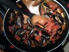 Muscheln in Tomaten-Weißwein-Sauce