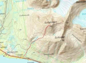 Route Sofiatinden