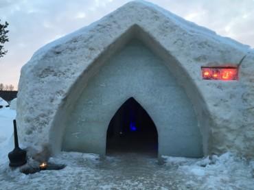 Eingang Eishotel