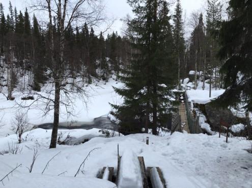 Hängebrücke am Ziel