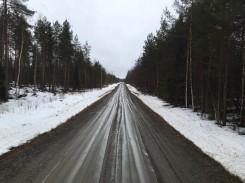 Unbefestigte Straße in Finnland