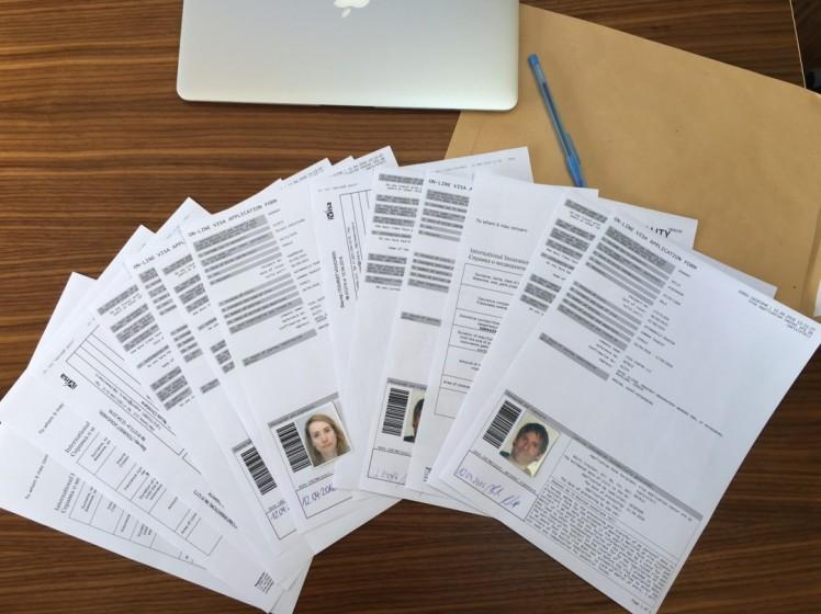 Unsere Visa-Anträge