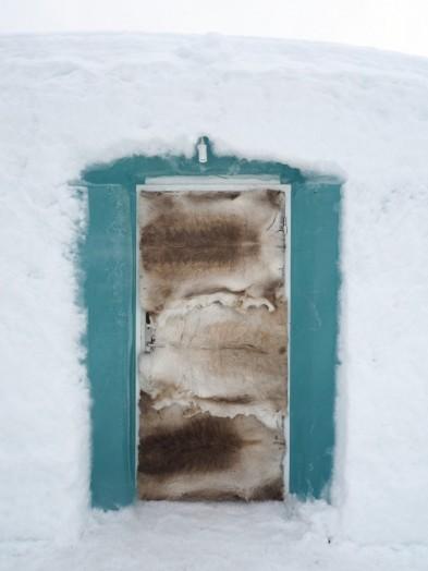 Eingang zum Hotelzimmer im Schneehotel, Jukkasjärvi
