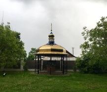 Brunnen an Kirche Ukraine