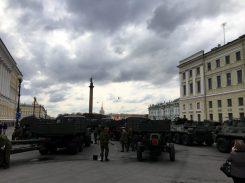 Saubermachen vor Militärparade