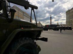 Warten auf den Beginn der Militärparade