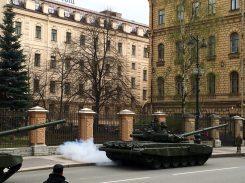 Beginn der Militärparade