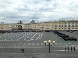 Militärparade für Putin