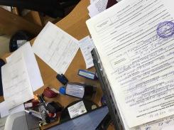 Vorbereitung zur Sammlung unserer Fingerabdrücke