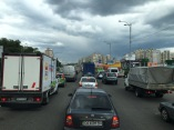 Feierabendverkehr in Kiew