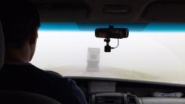 Im Nebel zur Grenze