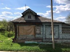 russische alte Häuser
