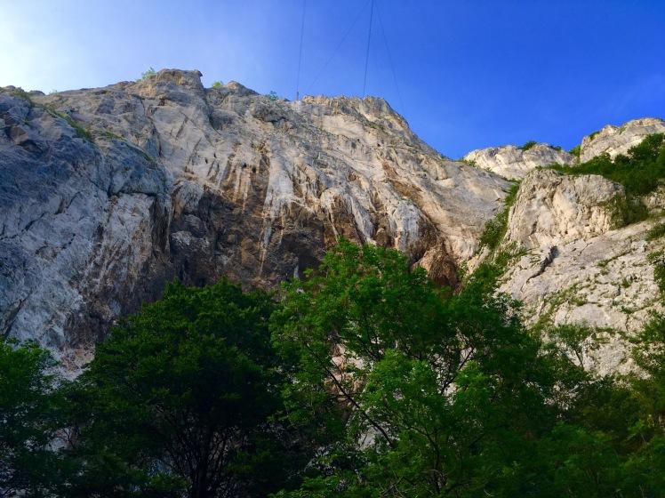 Cheile Rasnoavei Klettersteig von unten