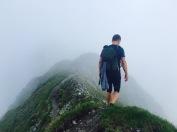 Auf dem Rücken Richtung Gipfel