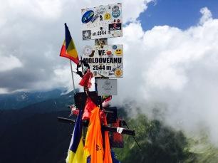 Geschafft: der Gipfel des Moldoveanu