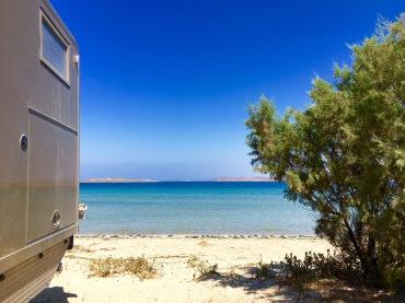 Stellplatz direkt am Meer auf Limnos