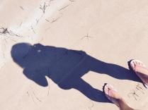 Schattenbild am Kotsinas Beach