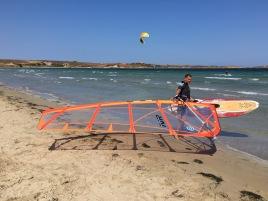 Alex beim Windsurfen