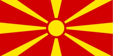Mazedonische Flagge seit 1995; Quelle: wikipedia.org