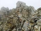 Schwindelfreiheit und Trittsicherheit erforderlich: hier Kletterei vom Mytikas zum Skala