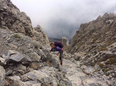Kletterei zum Mytikas