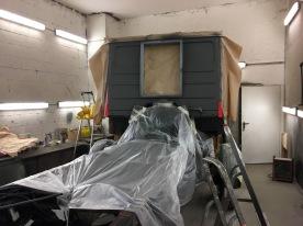 Vorbereitung zum Lackieren in RAL7006