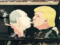 Politisches Statement in Vilnius