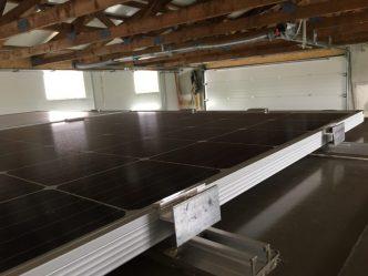 Befestigung der Photovoltaikanlage