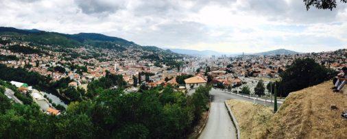 Blick auf Sarajevo