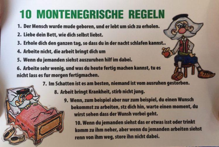 Montenegrische Regeln