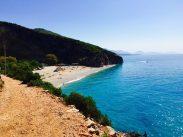 Gjipe-Strand mit dem kristallklaren Wasser