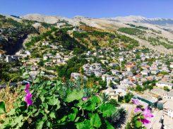 Blick auf Gjirokastra