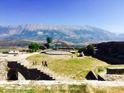 Blick von der Festung von Gjirokastër