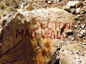 Sektor Mad Wall, unser letzter Klettersektor