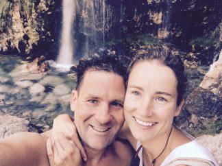 Am Grunas-Wasserfall