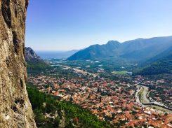 Leonidio von oben aus einer Kletterroute