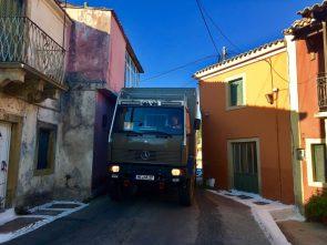 Enge Straßen auf Korfu