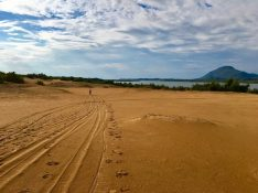 Radtour auf Korfu am Lake Korrision