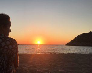 Sonnenuntergang an der Ochsenbauchbucht